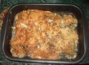 Рыбное филе запеченное с сыром и сливками