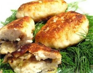 Рыбные зразы с грибной начинкой