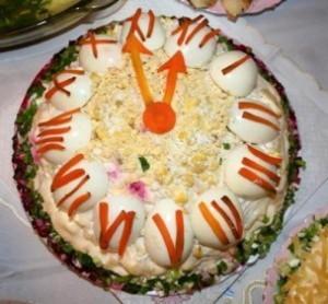 Новогодний селедочный салат