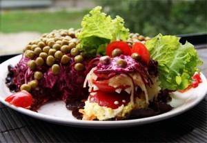 Новогодний селедочный салат «Дракончик»