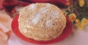 Домашний торт «Степка-растрепка» со сгущенным молоком и орехами
